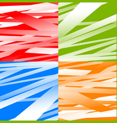 set of 4 abstract background with random vector image