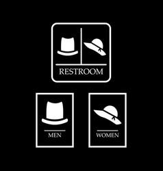Set of restroom symbol toilet sign hat symbol vector