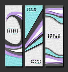 set vertical futuristic banners vector image