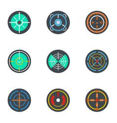 Sniper aim icon set flat style vector