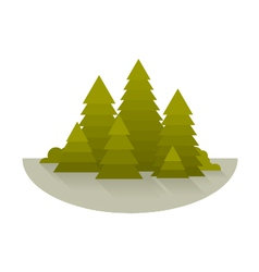Spruce Forest Glade vector