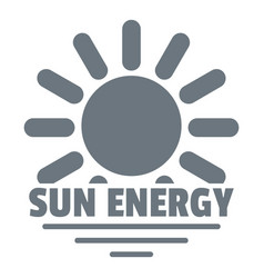 sun energy logo simple gray style vector image