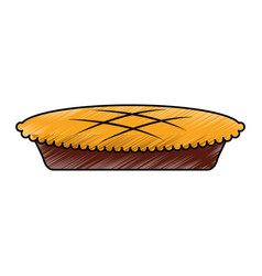 thanksgiving pie isolated icon vector image