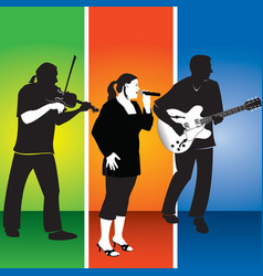 three musicians vector image