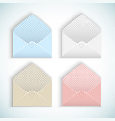 Valentines day opened envelopes vector