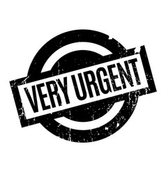 Very urgent rubber stamp vector
