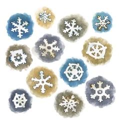Watercolor Snowflakes Set vector