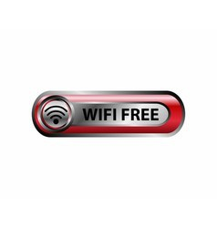 Wifi free icon button vector image