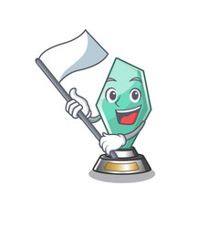 With flag acrylic trophy stored in cartoon drawer vector