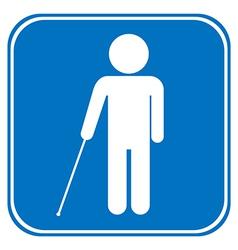 Blind disabled sign vector image