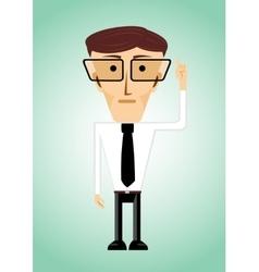 businessman poiting index finger up vector image