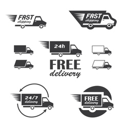 Delivery icons vector image vector image