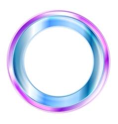 Elegant shiny circle logo vector image
