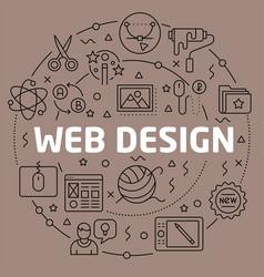linear web design vector image