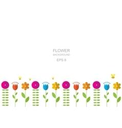 Paper Trendy Flat Flower Pattern EPS8 vector image vector image
