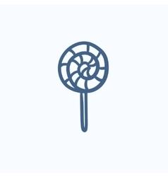 Spiral lollipop sketch icon vector image vector image