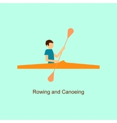 Sport people activities icon rowing and canoeing vector image vector image