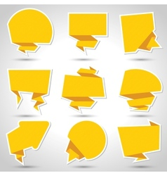 Abstract origami speech bubble background Eps 10 vector image vector image