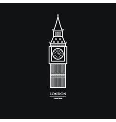 Big Ben Icon 1 vector image vector image