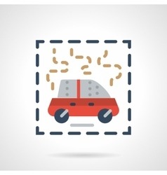 Burning car abstract flat icon vector image vector image