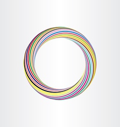 color circle abstract background template vector image