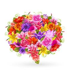 flower bubble vector image vector image