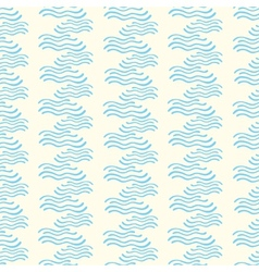Seamless pattern with abstract doodle wavy vector