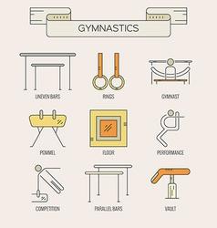 Set of gymnastics icons vector