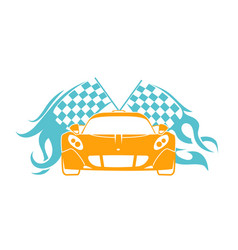 sports cars flat style vector image vector image
