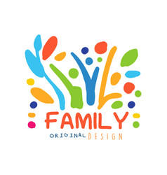 colorful logo design template for family business vector image