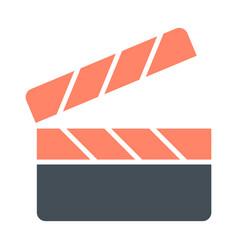 movie clapper board silhouette icon film vector image vector image