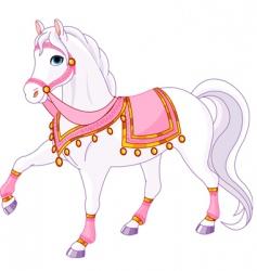 royal horse vector image vector image