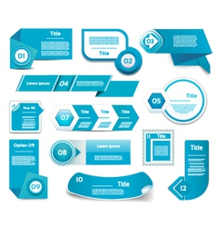 Set of blue progress version step icons eps 10 vector image vector image