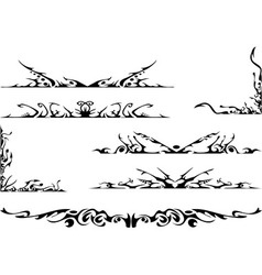 tribal ornate set vector image vector image