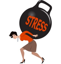 Woman under stress vector image