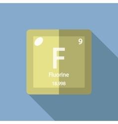 Chemical element Fluorine Flat vector image