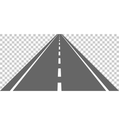 Straight road with white markings vector image