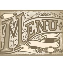 Vintage graphic element for menu vector