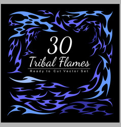 30 tribal flames - hot rod flames vector image
