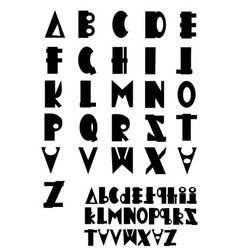 Abc - fonts vector