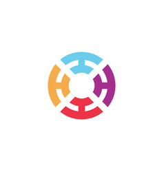 abstract circle symbol logo design template vector image