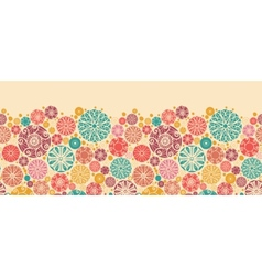 Abstract decorative circles horizontal seamless vector image