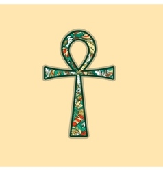 Ankh symbol egyptian cross vector