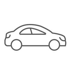 auto trip thin line icon automobile and tourism vector image