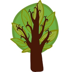 Big cartoon hazel Tree Isolated vector