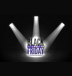 black friday loading realistic banner vector image