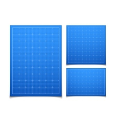 Blue isolated square grid set with shadow vector