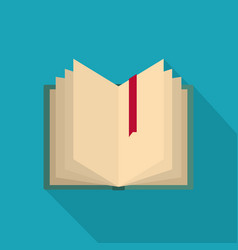 book bookmark icon flat style vector image
