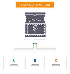box chest gold reward treasure business flow vector image
