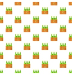 Box of beer pattern cartoon style vector